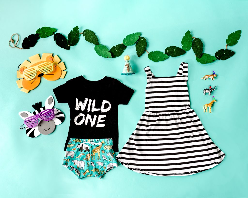 Party Animal Wild One Birthday Party Style Flatlay