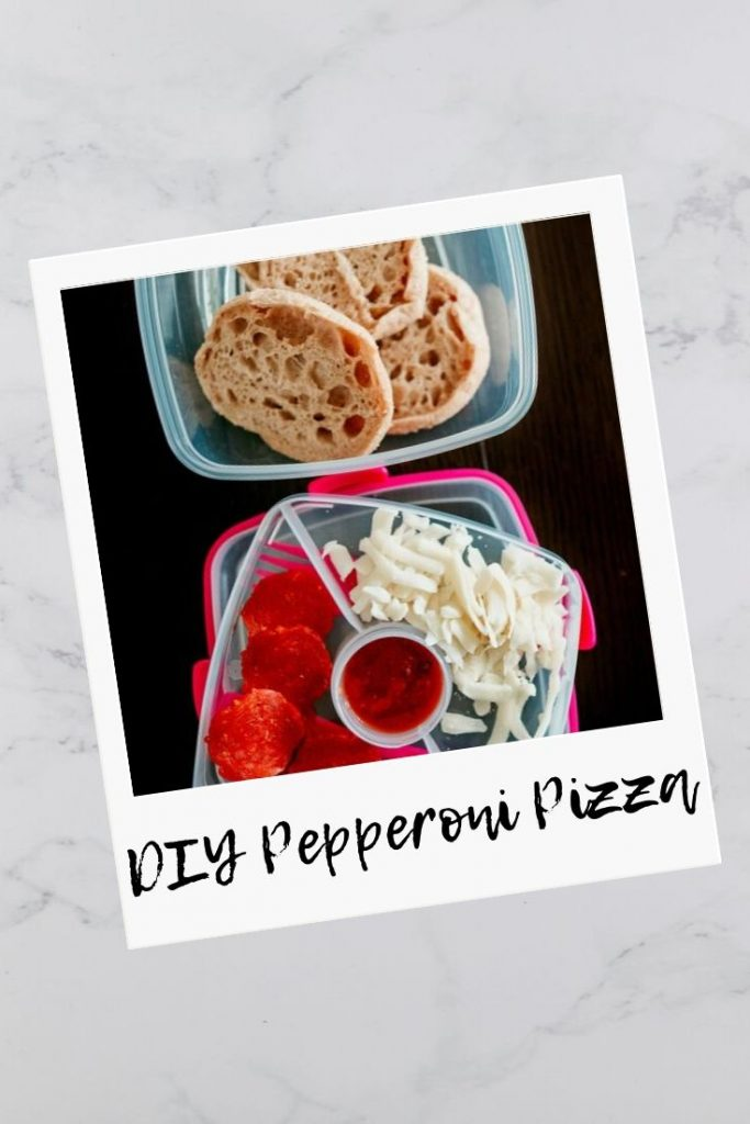 DIY Pepperoni Pizza; alternative to lunchables!
