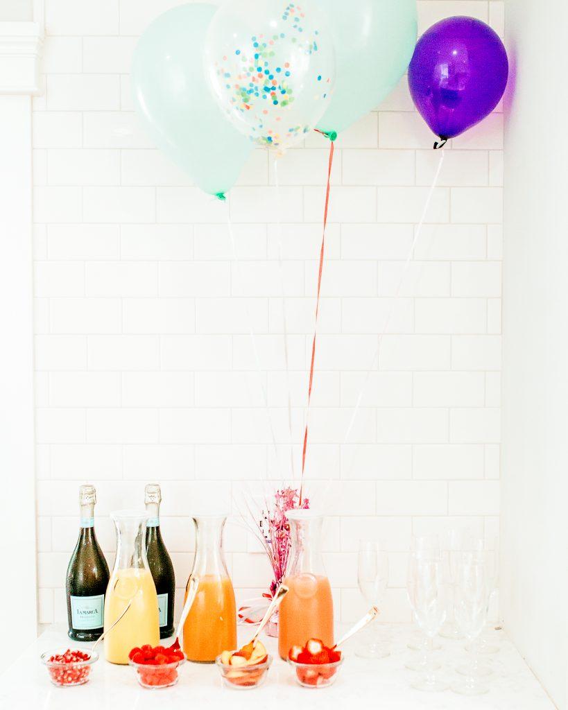mimosa birthday bar