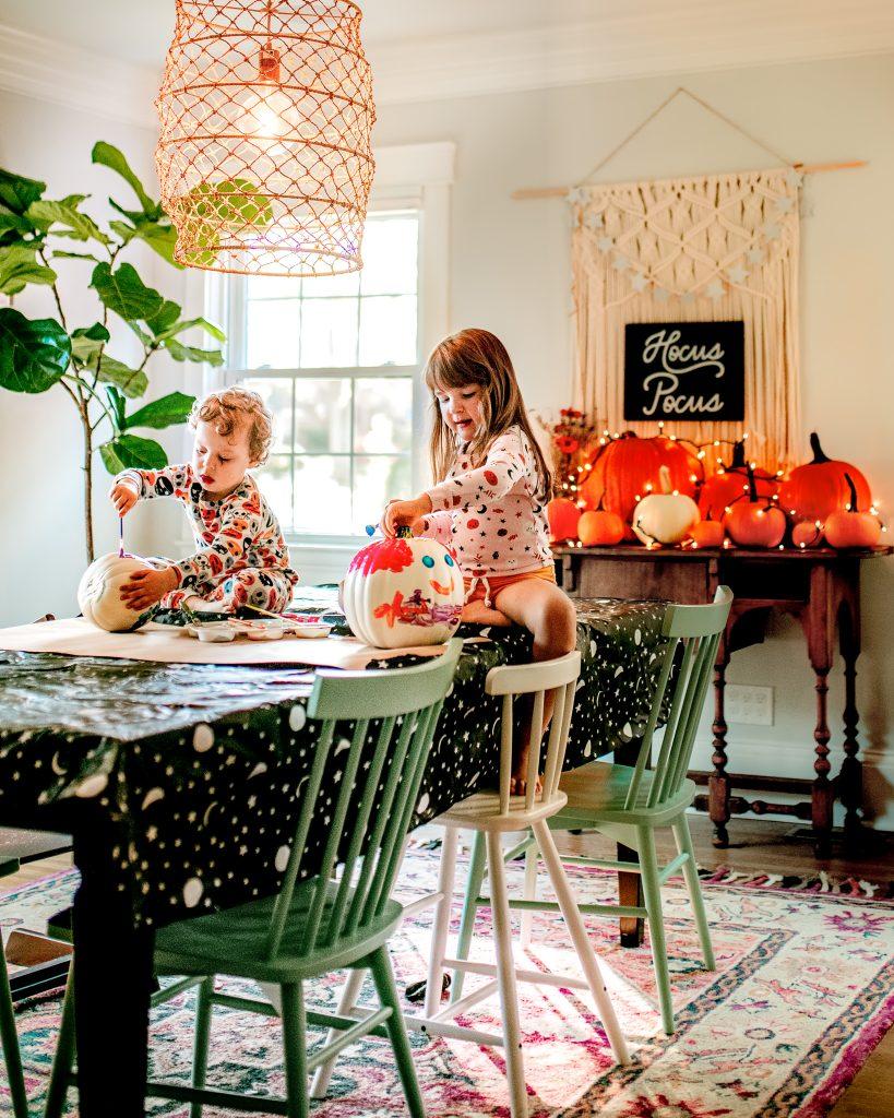 Pajama Pumpkin painting party!