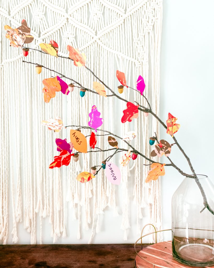 Bright and Colorful Thankful Tree Craft
