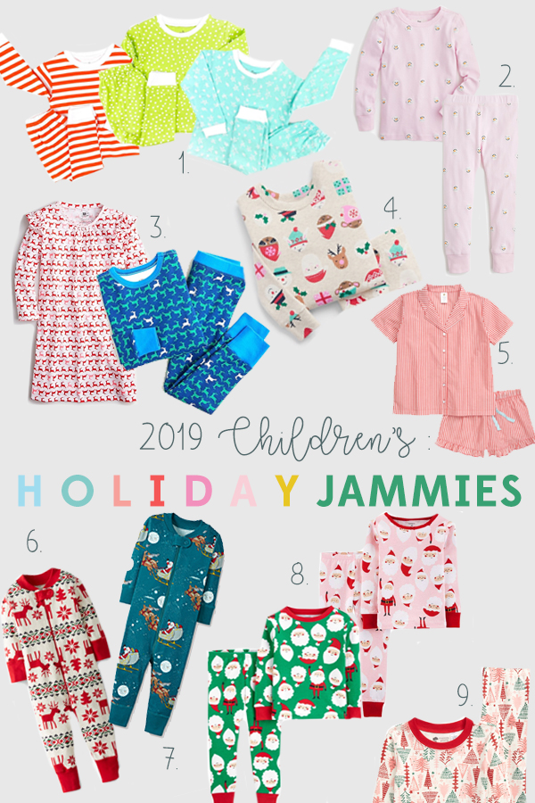 The most adorable childrens' Holiday pajamas !  2019 Christmas jammies