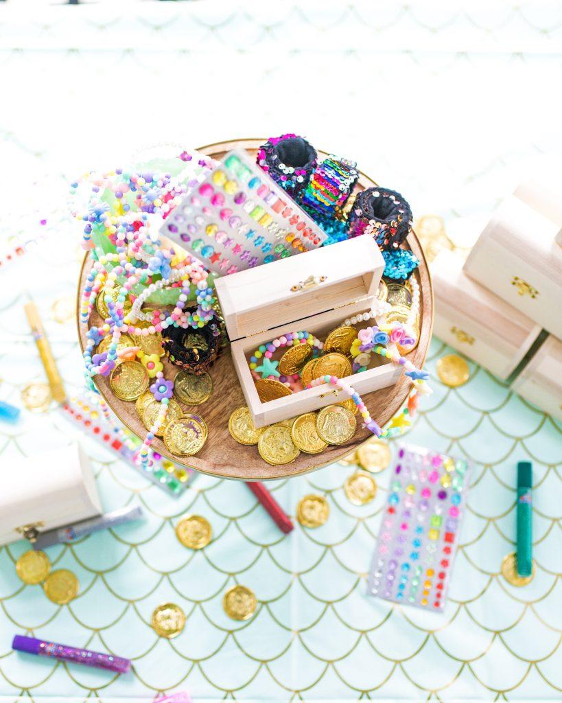 Mermaid Birthday Party Treasure Chest Activity & Party Favor