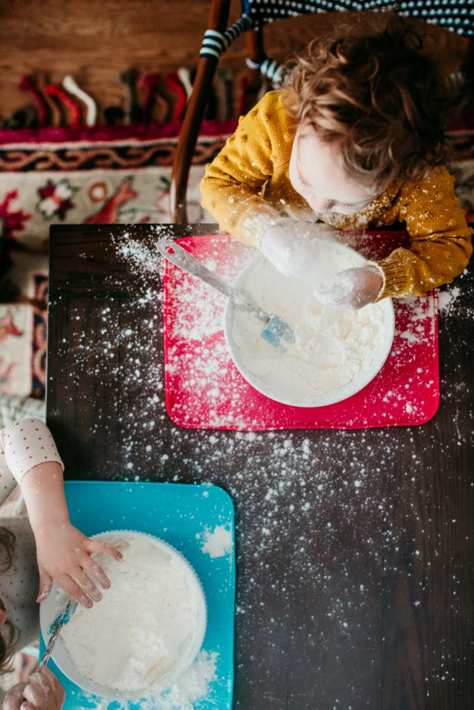 Kids DIY Snow Dough Recipe