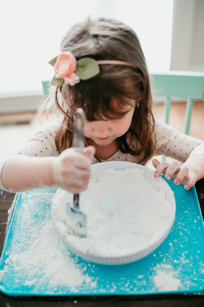 Snow Dough Winter Sensory Fun Recipe