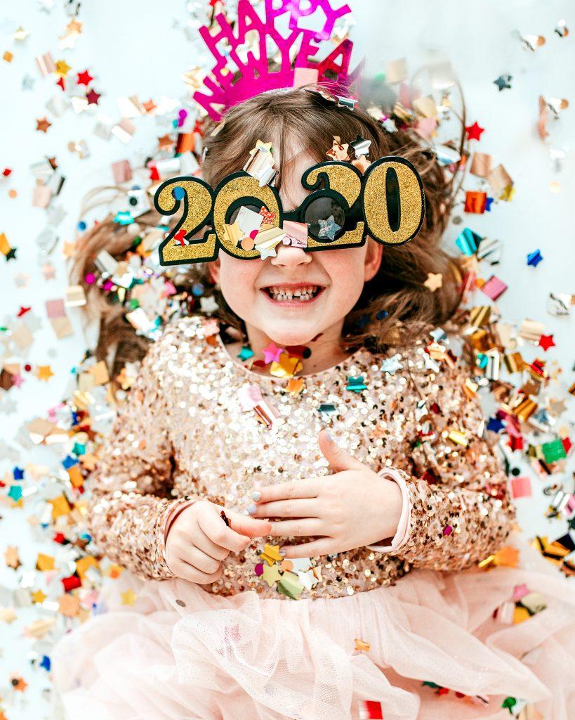 Happy New Year; Confetti Photoshoot