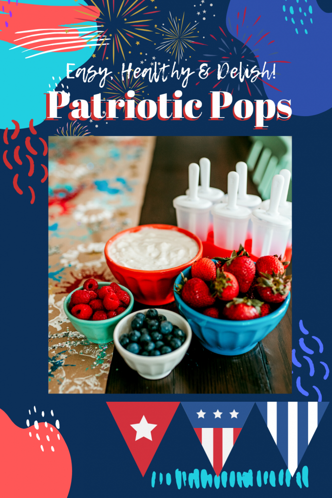 Enjoy this kid-friendly recipe for Red, White and Blue Fruit and Yogurt Popsicles! Healthy, easy, and delicious treat for Fourth of July.