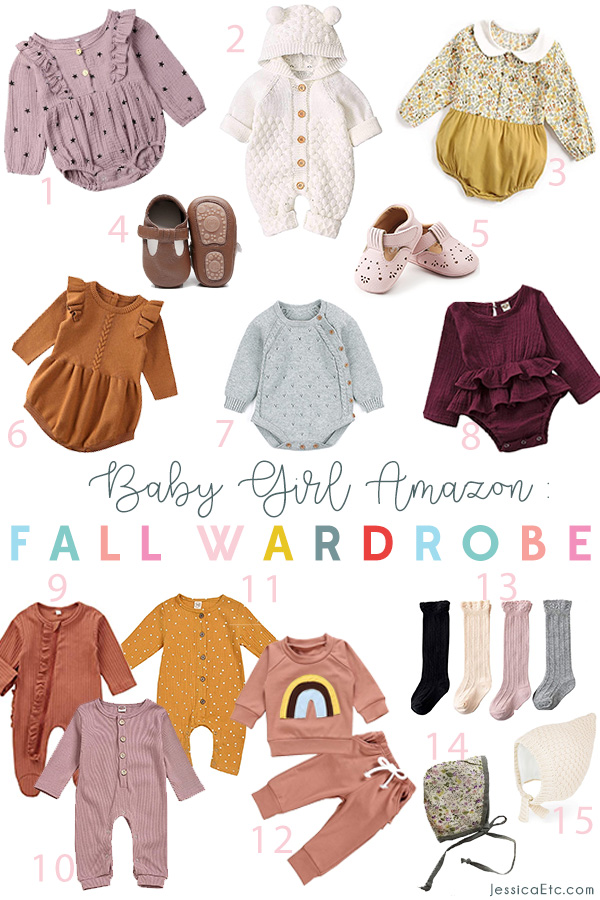 Sharing my cute and affordable baby girl fall fashion Amazon wishlist! Ruffles, florals and dainty knits are on my baby fashion list this fall
