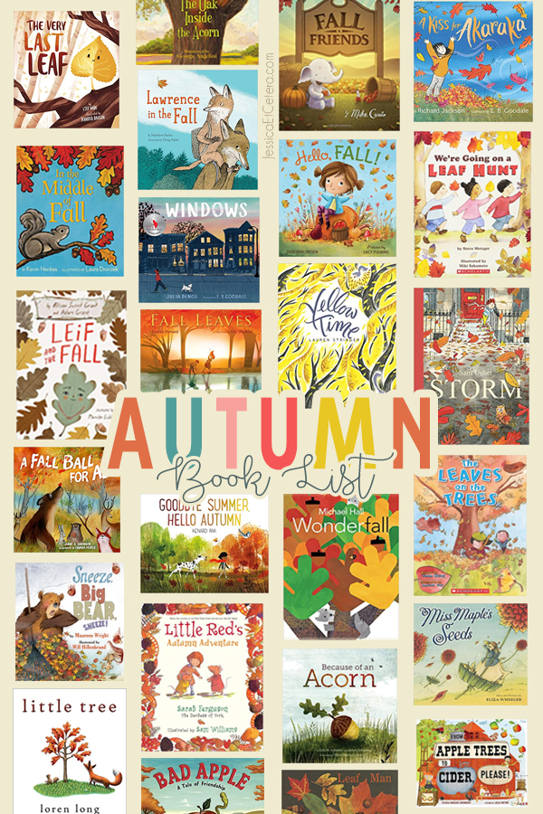 Book list of favorite fall picture books for kids!