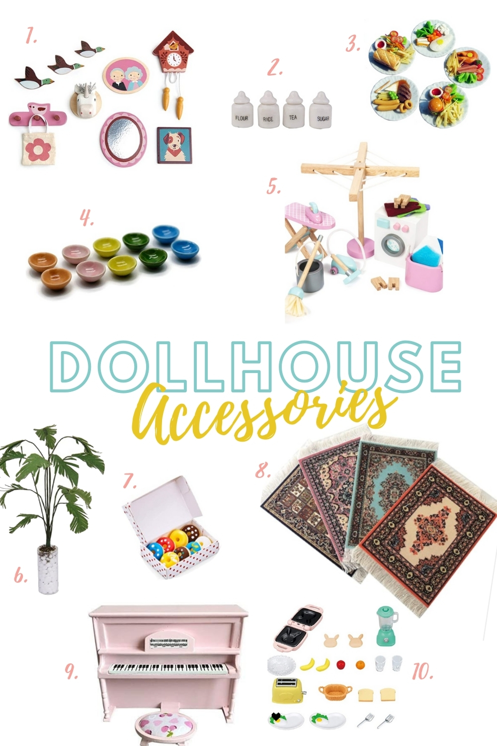 The cutest DIY dollhouse makeover finishing touches ! Check out these dollhouse accessories!
