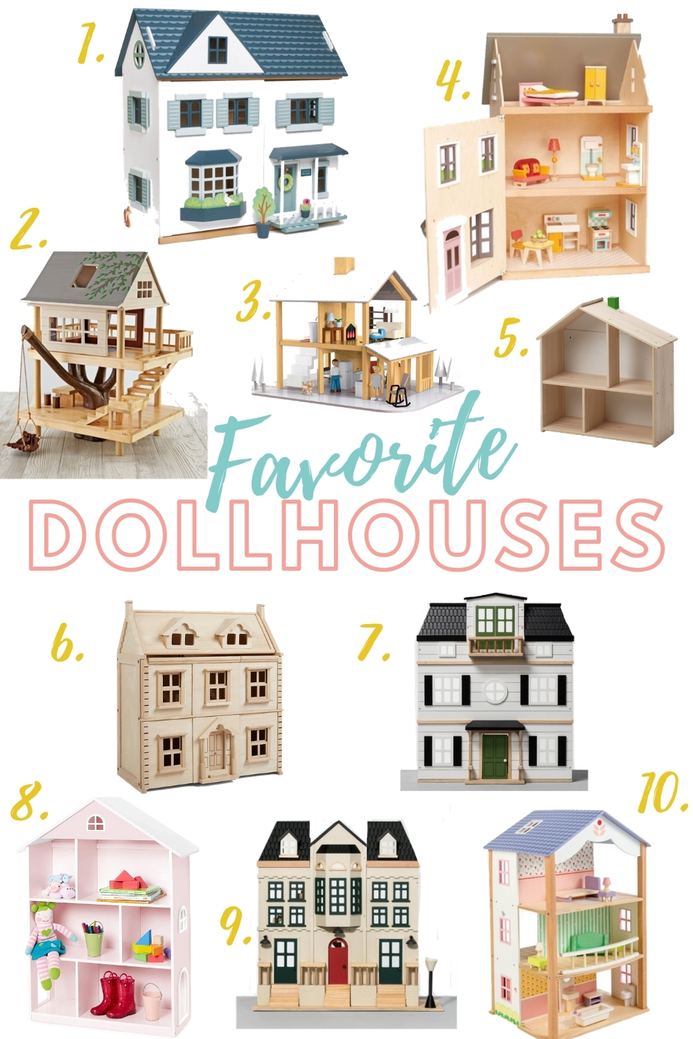 A collection of the best dollhouses! Perfect for Christmas lists or a DIY dollhouse! Check out these DIY tips for renovating your dollhouse