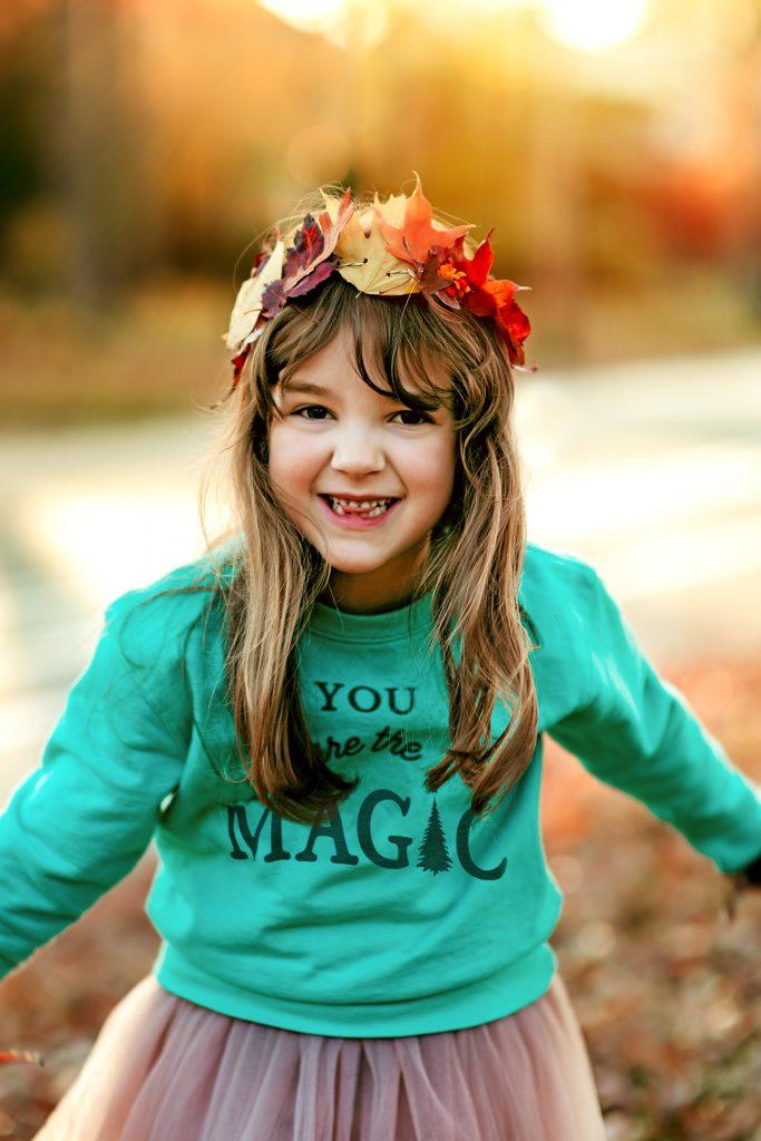 Create a gorgeous leaf crown this fall!