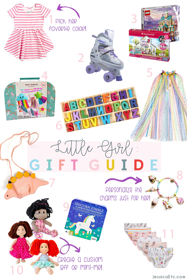 Shop the girl's Holiday gift guide that I made for my 6 year old. This Christmas little girl gift guide includes cute outfits and accessories, activities, and learn-at-home favorites!