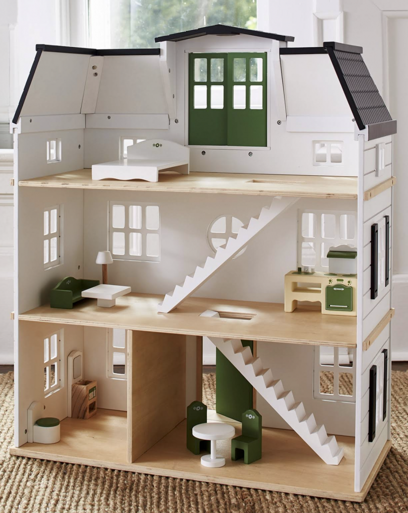 Hearth and Hand Dollhouse Makeover; come see my tips, sources, and a tour! DIY Chrsitmas gift