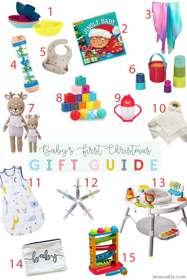 A fun and colorful Christmas gift guide with ideas for baby's first year and beyond! Filled with favorites!