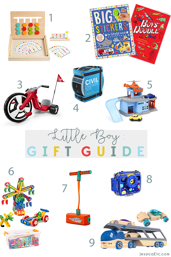 Shop the Little Boy Holiday gift guide that I made for my 4 year old. This Christmas little boy gift guide includes STEM, art, puzzles, building, and cars!