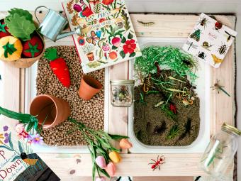 Spring Sensory Bin- Garden Dig