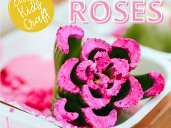 Flower Craft for Kids – Celery Stamp Roses
