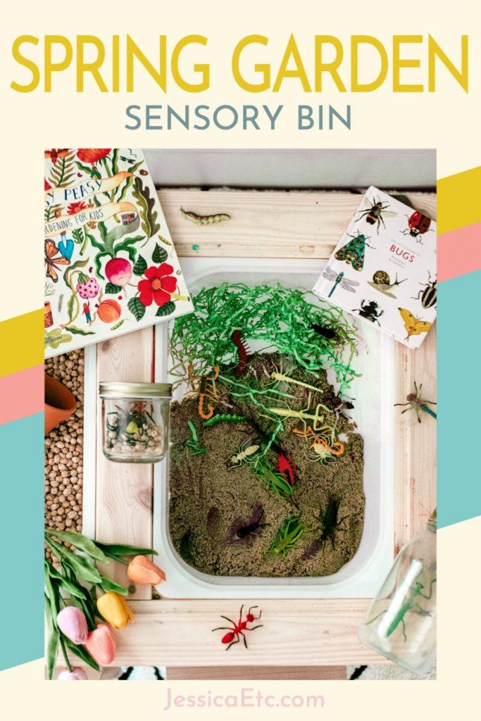 Spring Garden Sensory Bin preschool activity