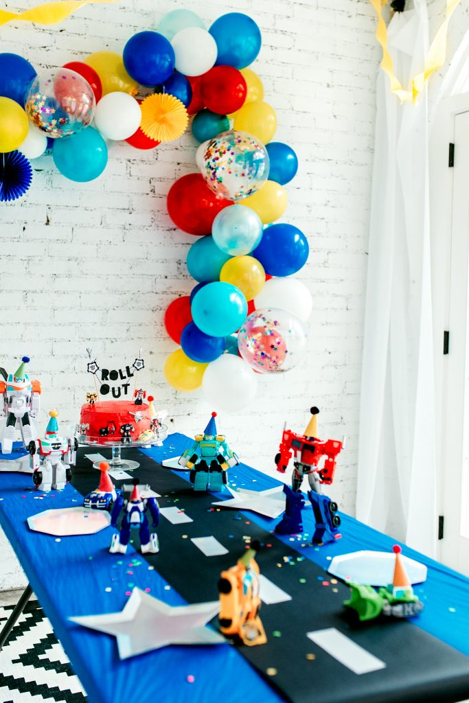 DIY Transformers birthday party. Celebrate 4 year old birthday Trans4mer party