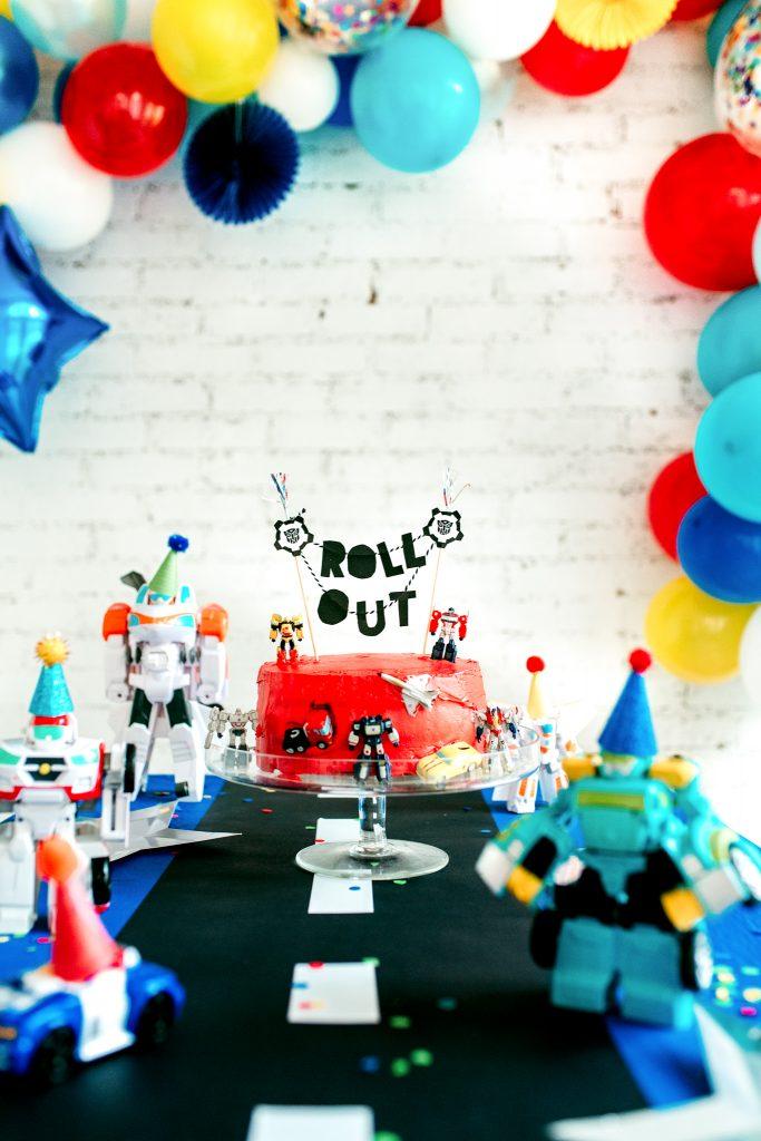 DIY cake topper for Transformer Birthday party