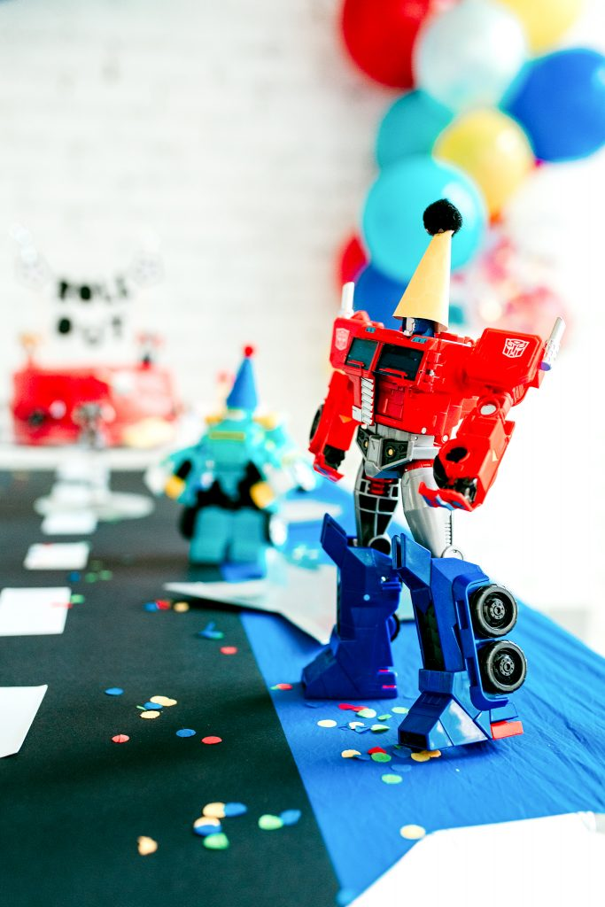 Trans4mers 4 year old Transformers birthday party theme for boys