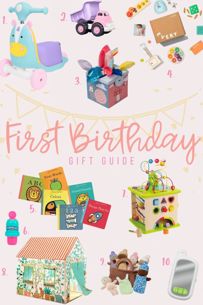 The best first birthday gift ideas! Toys for one year old. Gifts one year old will love!