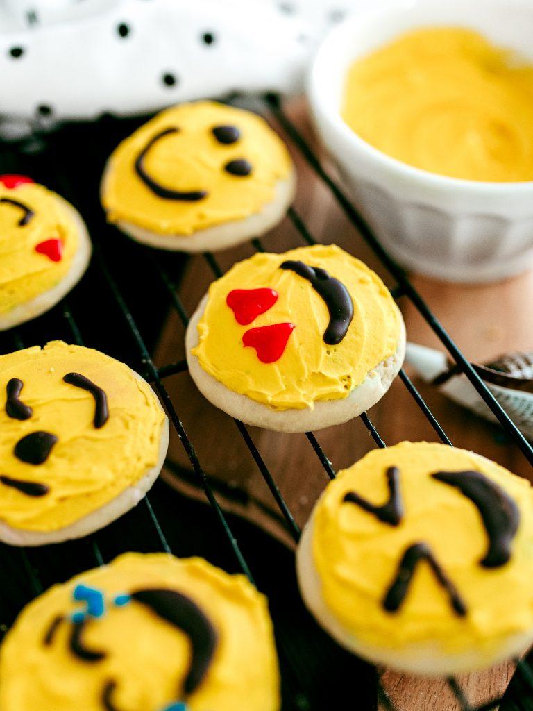 Decorate Emoji Cookies to celebrate World Emoji Day with kids!
