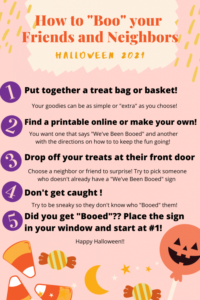 You've Been Booed instructions! Here's how to celebrate Halloween with a fun tradition of booing your neighbors or friends. Make a treat basket, drop it off, don't get caught!