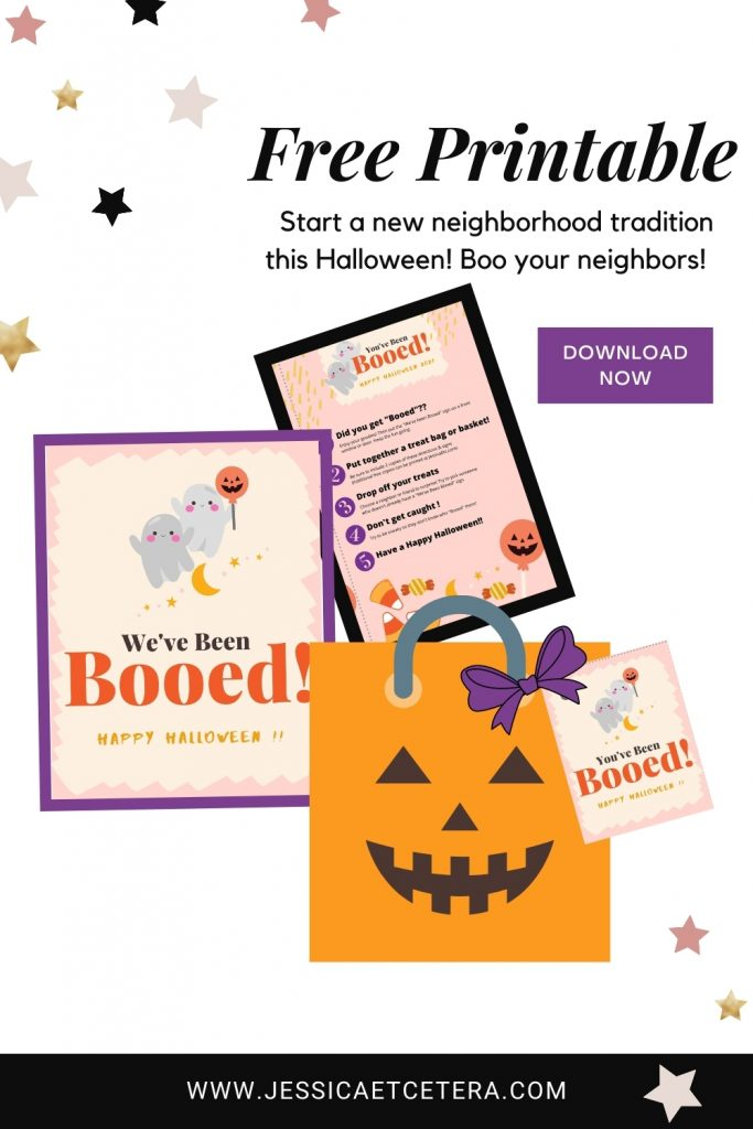 """You've been booed! Get a free """"you've been booed"""" printable to treat your neighbors to a fall halloween tradition"""