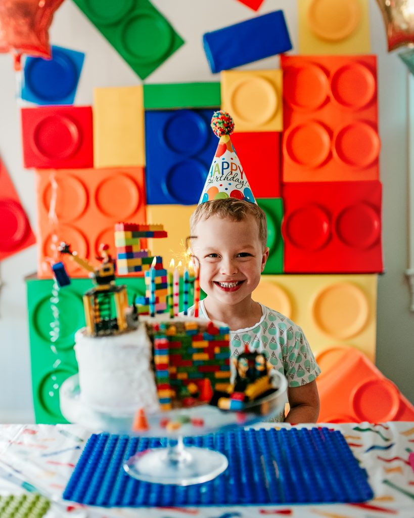 A Lego birthday party for a 5 year old! DIY decorations and ideas for a Lego birthday party.