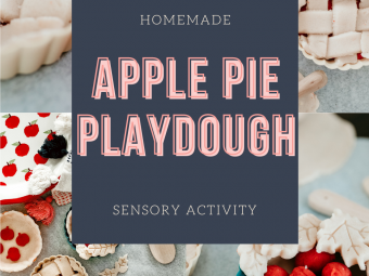 Play Dough Kits: Apple Pie Scented Play Dough for Fall